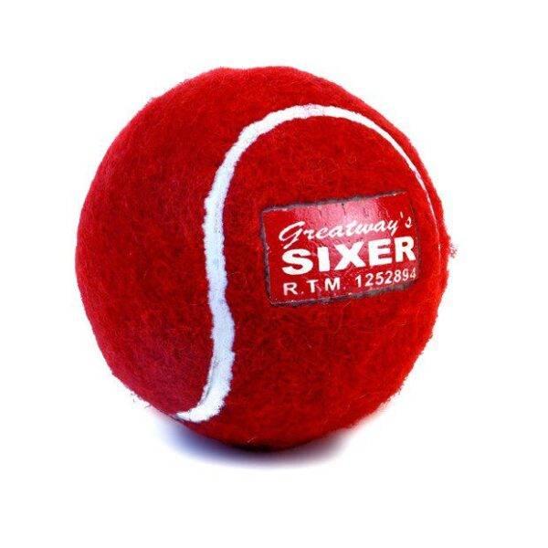 Sixer Tennis Cricket Balls - Heavy ( Pack of 6 )